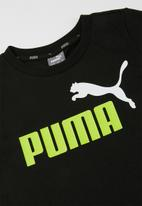 PUMA - Ess 2 col logo tee - black