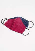 Superbalist - 2-pack face mask - red & navy