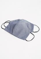 Superbalist - 2-pack denim face mask - blue