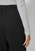Superbalist - Tapered track pants - black