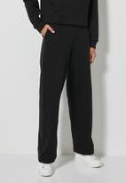 Superbalist - Wide leg track pants - black