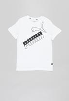PUMA - Amplified big logo tee - white