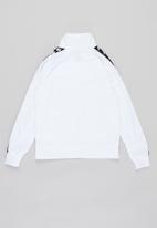 KAPPA - Boys banda anniston jacket - white & black