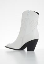 SISSY BOY - Walk this way cowboy boot - white