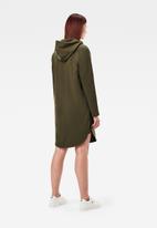 G-Star RAW - Sleeve print hooded sweat dress - olive