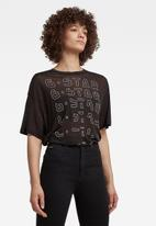 G-Star RAW - Sheer faded graphic tee - black