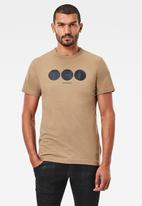 G-Star RAW - Circle object back graphic short sleeve tee - beige