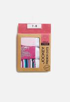 Jockey - Girls 3 pack print french cut panties - pink