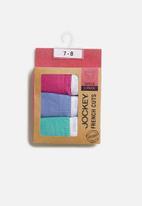 Jockey - Girls 3 pack plain french cut panties - multi
