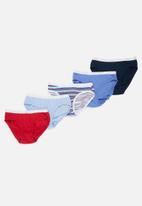 Jockey - Girls 5 pack print french cut panties - blue & red