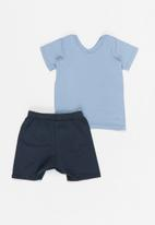 Superbalist Kids - T-shirt  & shorts set - navy & blue