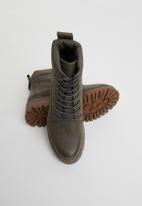 Miss Black - Fox 2 combat boot - grey