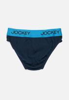 Jockey - Boys 3 pack plain briefs - blue & red