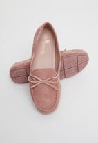 Butterfly Feet - Naomi boat shoe - pink