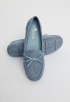 Butterfly Feet - Naomi boat shoe - blue