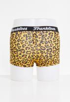 Franklees - Leopard short leg trunks - brown