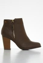 Miss Black - Alham ankle boot - chocolate