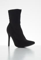 Miss Black - Lykra sock boot - black