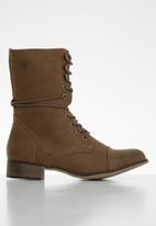 Miss Black - Bon bon 2 mid calf boot - tan