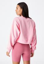 Cotton On - Classic cropped crew - pink