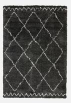 Fotakis - Gipsy shaggy rug - diamond charcoal