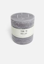 H&S - Relax 3-wick candle - grey