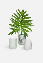 H&S - Glass vase - blue