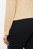 Blake - Soft touch rollover crop top - beige