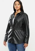 Violeta by Mango - Plus Jacket cuero - black