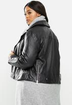 Violeta by Mango - Plus Leather Jacket onetior - black