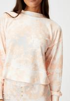 Cotton On - Super soft long sleeve crew - marble tie dye rose