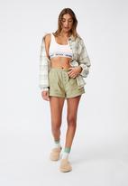 Cotton On - Warm flannel sleep shirt - field check oregano