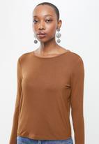 MANGO - Riboman T-shirt - brown