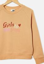 Free by Cotton On - Boxy crew neck jumper - peachy