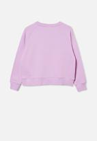 Free by Cotton On - Boxy crew neck jumper - pale violet/ wild child