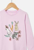 Cotton On - Penelope long sleeve tee - pale violet