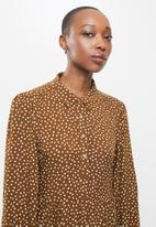 MANGO - Dress apple - brown