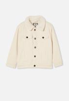 Cotton On - Jamie cord sherpa jacket - rainy day