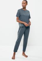 Superbalist - Sleep tee & drop crotch jogger - grey
