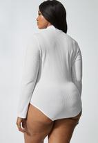 Superbalist - 2 Pack funnel neck rib bodysuits - black & white