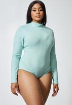Superbalist - 2 Pack funnel neck rib bodysuits - grey & aqua