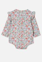 Cotton On - The long sleeve ruffle bubbysuit - vanilla/cali pink garden floral