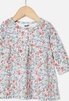 Cotton On - Molly long sleeve dress - vanilla/cali pink garden floral