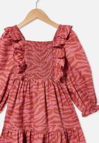 Cotton On - Jenna long sleeve dress - red
