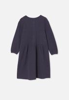 Cotton On - Payton long sleeve dress - indigo