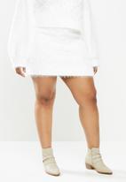 Glamorous - Plus co- ord skirt- white