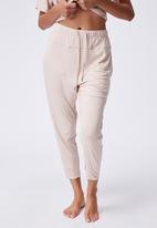 Cotton On - Sleep recovery pant - mushroom pinstripe