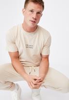 Cotton On - Tbar text t-shirt - ivory