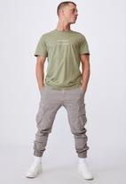 Cotton On - Tbar text t-shirt - sage