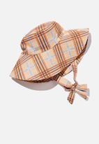 Rubi - Zahra wide brim sun hat - neutral